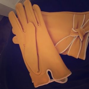 Genuine leather gloves size s/m